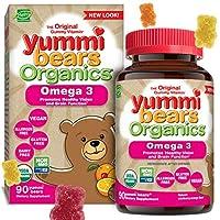 Yummi Bears Organics Omega 3 Gummy Vitamin Supplement for Kids(子供用) 90粒