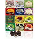 12 Assorted Boxes of HEM Incense Cones Best Sellers Set 12 X 10 (120 total)
