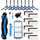 Theresa Hay Replacement Parts Rolling Brush Filters Side Brushes Compatible for RoboVac 11S, RoboVac 30, RoboVac 30C, RoboVac