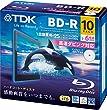 TDK �^��p�u���[���C�f�B�X�N BD-R 25GB 1-6�{�� �z���C�g���C�h�v�����^�u�� 10���p�b�N 5mm�X�����P�[�X BRV25PWC10A