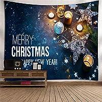 クリスマスホームデコレーションタペストリー3Dデジタルプリント壁画ポリエステルサンタクロース壁掛けテレビの壁壁掛け寝室居間タペストリーウォールマウントアート壁の装飾 (Color : 005)