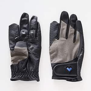 レガン グラウンドゴルフ用手袋磁石付き高機能モデル 紳士用 両手組 (グレー, M)