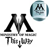 VORCOOL Toilet Sticker This Way to The Ministry of Magic Decal Bathroom Decoration