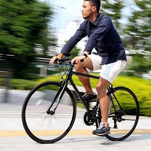 クロスバイク 700c(約28インチ)/ブラック(黒) シマノ21段変速 アルミフレーム 軽量 重さ11.2kg 【VENUS】 ビーナス CAC-021【代引不可】 生活用品 インテリア 雑貨 自転車(シティーサイクル) クロスバイク [並行輸入品]