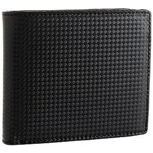 [ノイインテレッセ] シャッテン 2つ折り財布(外BOX小銭入れ付) 3873 クロxクロ クロxクロ