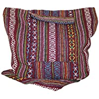 Delrosaria Tribe Collection Multicolored Boho Sling Crossbody Bag