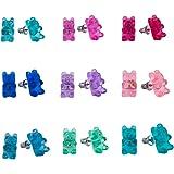 Minihope Hypoallergenic Plastic Post Earrings for Girls, Cute Multiple Animal Unicorn Donut Stud Earrings for Little Girls Ki