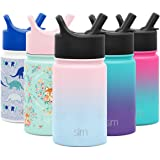 Simple Modern 10oz Summit Kids Water Bottle Thermos with Straw Lid - Dishwasher Safe Vacuum Insulated Double Wall Tumbler Tra