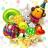 お誕生日プレゼントに ニコちゃん&モンキー バルーンギフト 送料無料