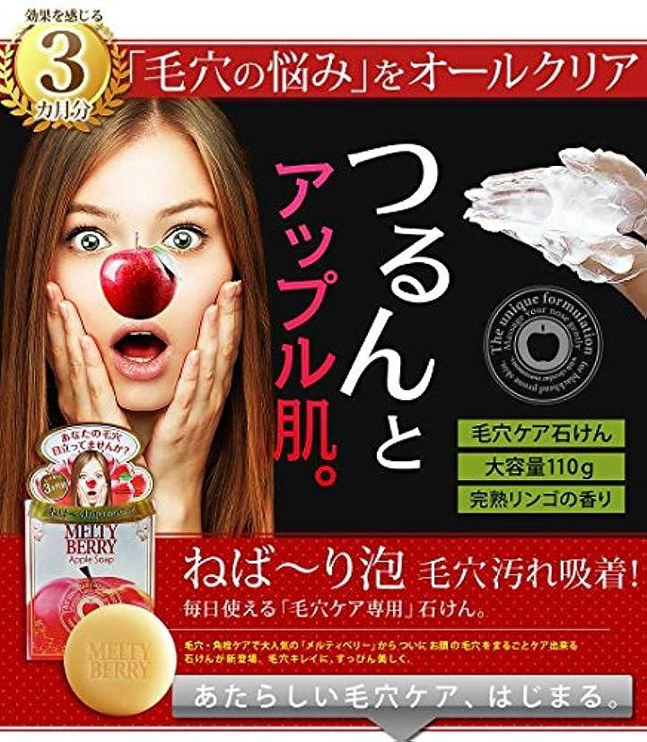 食用謎めいた後ろにメルティベリーアップルソープ 2個セット(毛穴対策用洗顔石鹸)