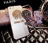 銀屋 ぎんや 2カラー 2サイズ iPhone6 6s 対応 4.7 インチ ロゴ ハード 保護 ケース カバー クリア ゴールド CHロゴ IC0022 [並行輸入品]