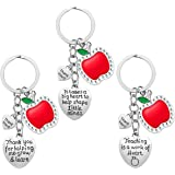 Teacher Appreciation Women, 3pcs Heart Pendant Teacher Keychain Set, Jewelry Teachers, Birthday Teacher Valentines Gifts