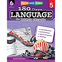 180 Days of Language for Fifth Grade: Capitalization, Punctuation, Parts of Speech, Spelling (Practice, Assess, Diagnose: Level 5)