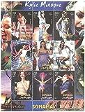 カイリー?ミノーグ - 9スタンプ/ソマリア/ 2002オーストラリアのシンガー、ソングライター、女優切手シート
