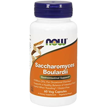 [海外直送品] ナウフーズ  Saccharomyces Boulardii Gastrointestinal Support 60 Vcaps