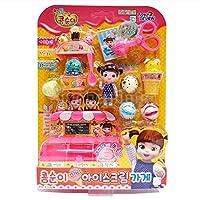 KONGSUNI Mini Ice Cream Shop / Character Toy / Making Iceクリームon My Own / Ice Cream Shop Role Play /ショップ再生/ Piling再生