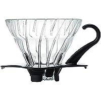 HARIO (ハリオ) V60 耐熱ガラス 透過 コーヒードリッパー 01 ブラック コーヒードリップ 1~2杯用 VD…