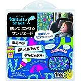 テクセルジャパン ビタット・シェード Bitatto Shade 貼ってはがせるサンシェード アルファベット