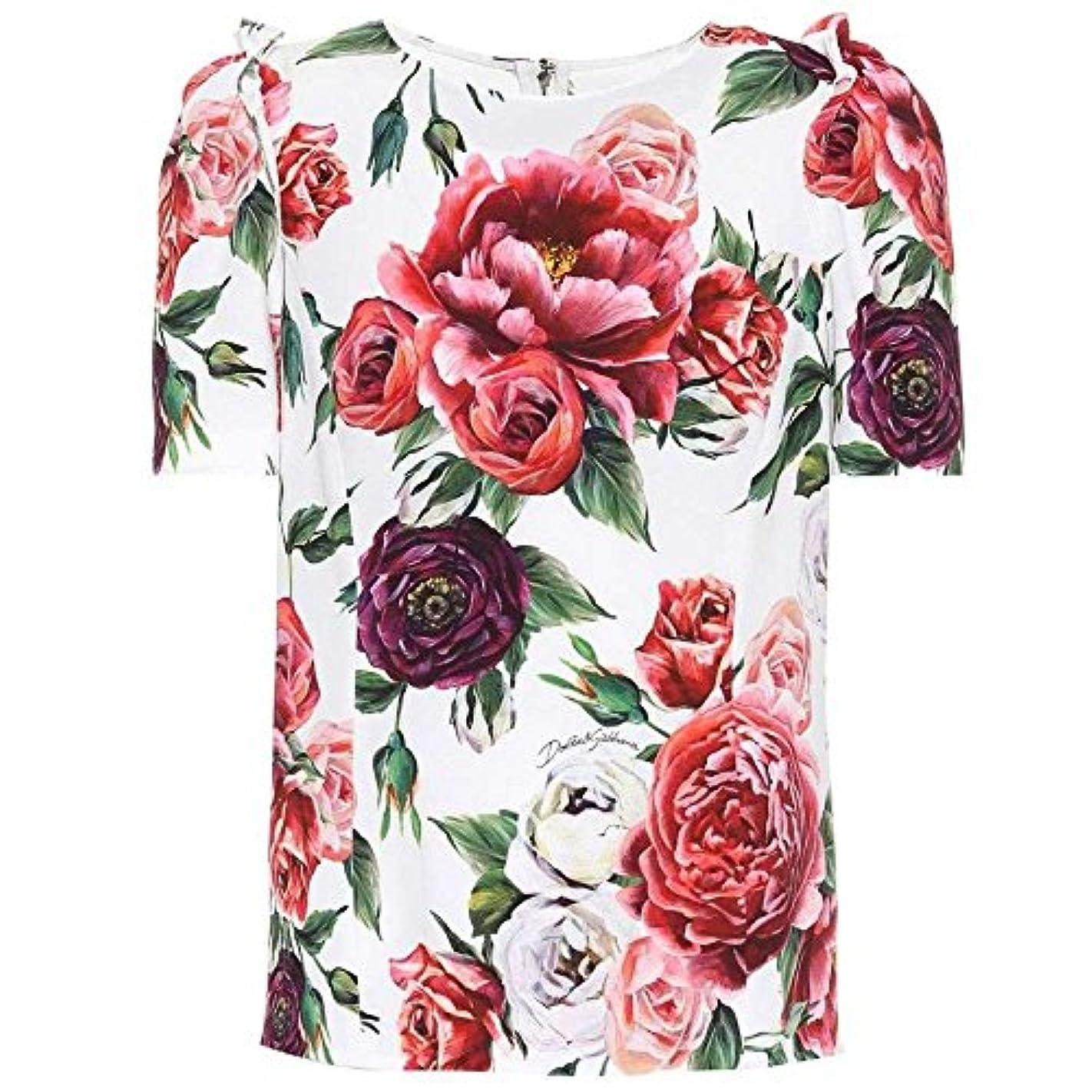 宣言差し控える交渉する(ドルチェ&ガッバーナ) Dolce & Gabbana レディース トップス Floral crepe top [並行輸入品]