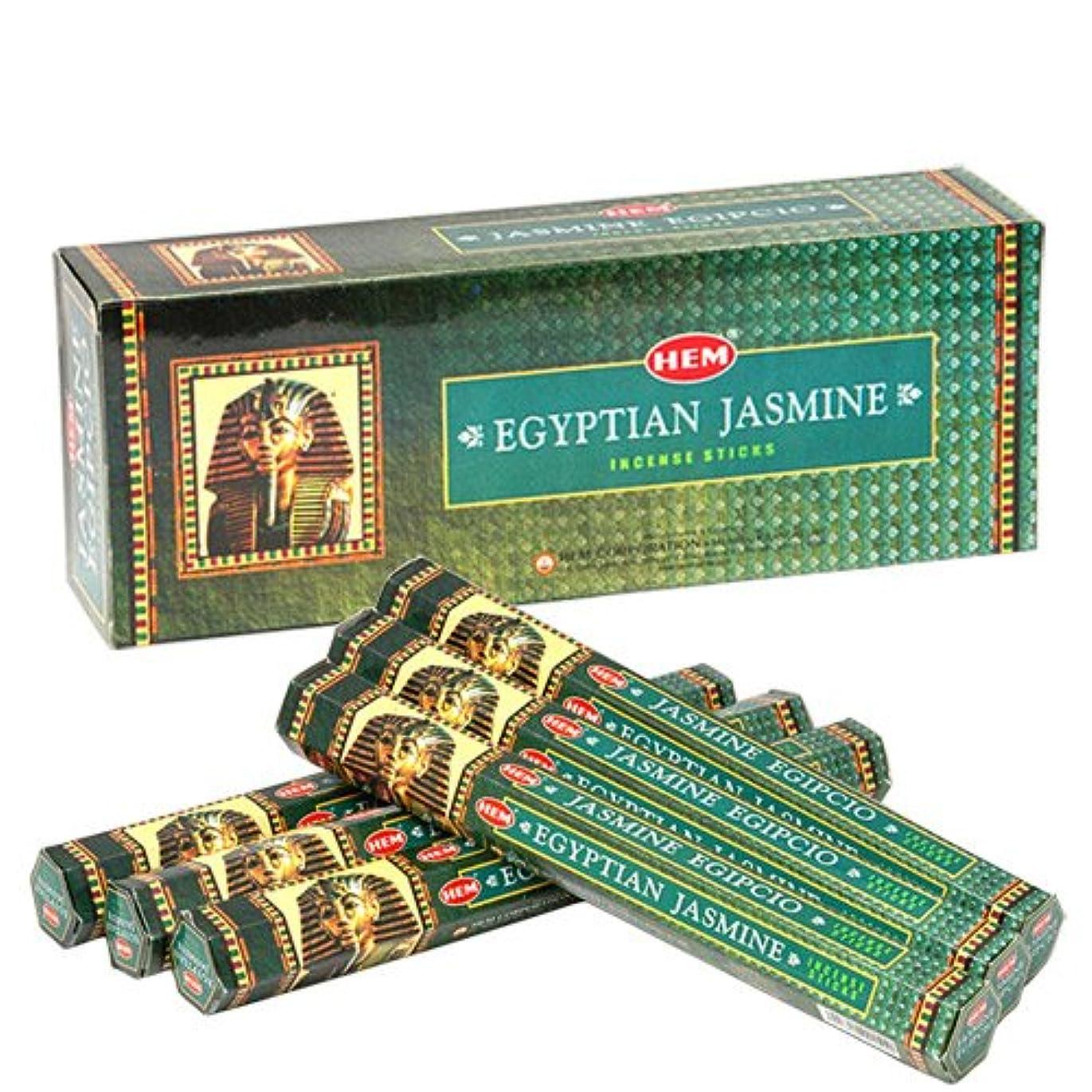ふつう可愛いスコットランド人HEMインセンススティック エジプシャンジャスミン 6角(20本入)×6箱