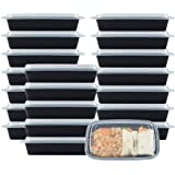 NutriBox 28 OZ Meal Prep Plastic Food Storage Containers 1 Compartment with lids- BPA Free Reusable Lunch Bento Box - Microwa