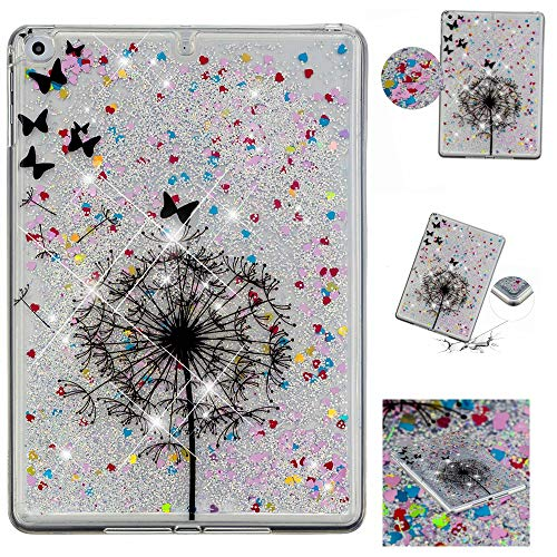 MGVV iPad Air Case Back Case Cover, Lightweight Liquid 3D Tablet Glitter Case Cover Bling Sparkle Quicksand Protective Case for iPad Air/iPad 5 (11AC1210)