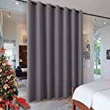 RYB HOME Blackout Blind Curtains Space Divider Adjustable Ceiling to Floor Blackout Curtain Drape for Bedroom/Dorm Decor/Door