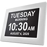 American Lifetime [Newest Version] Day Clock - Extra Large Impaired Vision Digital Clock with Battery Backup & 5 Alarm Option