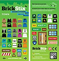BrickStix TOWN Reusable Stickers by BrickStix