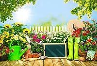 aofoto写真スタジオ馬牧場Meadow Backdrop Nature Summer動物おもちゃベア背景子供赤ちゃん男の子女の子フォトスタジオ小道具ビニール壁紙