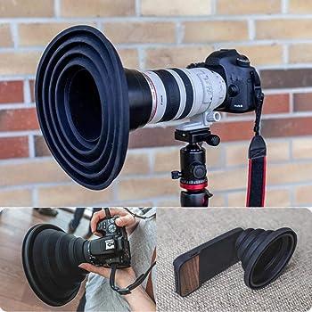 レンズフード 究極のレンズフード アルティメートレンズフード カメラ付き 携帯電話用 反射防止 折りたたみ式 シリコン レンズフード Nelnissa