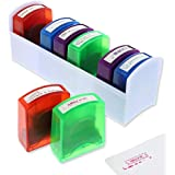 Self Inking Teacher Grading Stamps (8 Pack), 8 Designs, 4 Colors