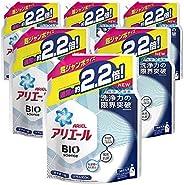 ARIEL 生物科學x自然清潔力限量 洗衣液 液體 替換裝 約2.2倍(1520克)×6袋