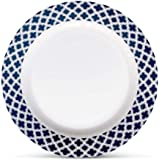 "Bowla Melamine Dinner Plates Set - Set of 6,11"" indoor or ourdoor plates (Bluegrass)"
