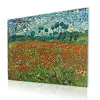 """Alonlineアート–ケシフィールドVincent van Goghキャンバスの印刷( 100%コットン、フレームなしunmounted ) 41""""x31"""" - 105x79cm VM-VNG117-CNC0F00-1P1A-41-31"""