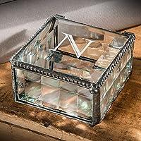 J Devlinボックス333eb208–1PersonalizedガラスボックスEngravedガラス記念品ジュエリーTrinketボックスモノグラム