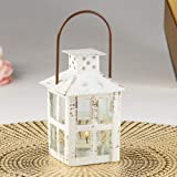 Kate Aspen 14110WT Vintage White Distressed Small Candle Lantern, One Size