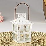Kate Aspen Vintage White Distressed Small Lantern mug, One Size