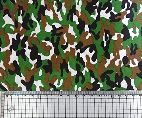 全8種 迷彩 生地 手芸 ハンドクラフト 用 ポリエステル 布 幅150cm 2m ハンドメイド 裁縫 (A・ポリエステル2m)