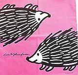 リサ・ラーソン Lisa Larson 日本製ハンカチ ペアシリーズ (ピンク)