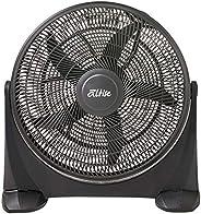 Omega Altise Box/Floor Fan Box/Floor Fan, Black