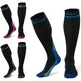 TSLA 3 Pairs Compression Socks, 20-30 mmHg Travel Sport Medical Varicose Pregnancy Swelling Knee High Support Socks