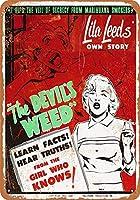 Shimaier 壁の装飾 メタルサイン ウォールアート - 1950 The Devil's Weed Marijuana 縦20×横30cm ブリキ看板 店舗装飾 壁面ディスプレー おしゃれ 雑貨 通販 アメリカン ガレージ