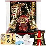 五月人形 真田幸村 着用 兜ケース飾り 兜飾り 藤翁作 着用真田S型 アクリルケース h315-fn-195-704