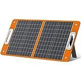 FF FLASHFISH ソーラーチャージャー ソーラーパネル充電器 60W 高変換効率23% 太陽光発電 単結晶 折りたたみ PD45W QC3.0急速充電 USBスマホ ポータブル電源充電 アウトドアー 停電 防災に大活躍 (60W)