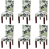 Fuloon Removable Washable Dining Chair Protector Cover Seat Slipcover For Hotel Dining Room Ceremony Banquet Wedding Party (6