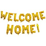 """Welcome Home Balloon Banner 40"""" Hand Writing Style Balloons Foil Letter Balloon Anniversary Celebration Party Decorations, Go"""