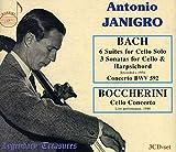 J.S.バッハ: 無伴奏チェロ組曲 他、ボッケリーニ: チェロ協奏曲 (Bach: 6 Suites for Cello Solo, 3 Sonatas for Cello & Harpsichord, Boccherini: Cello Concerto / Antonio Janigro) (3CD) [輸入盤]