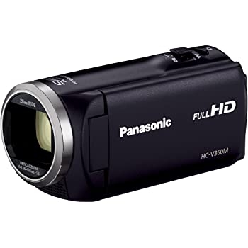 Panasonic HDビデオカメラ V360M 16GB 高倍率90倍ズーム ブラック HC-V360M-K