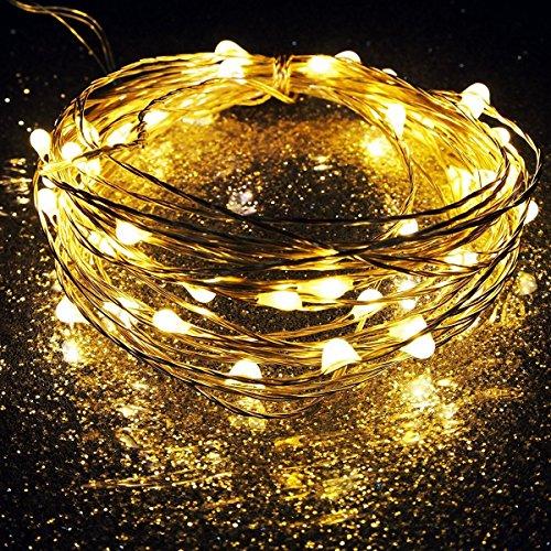 RoomClip商品情報 - waves 電池式 ワイヤーライト 5M/50灯 LED ジュエリーライト イルミネーション 電飾 クリスマス (ウォームホワイト)